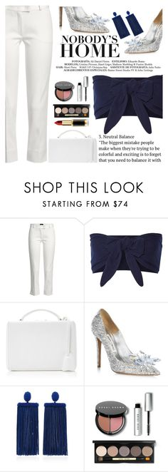 """Untitled #2554"" by anarita11 ❤ liked on Polyvore featuring Joseph, Solid & Striped, Mark Cross, Jimmy Choo, Oscar de la Renta and Bobbi Brown Cosmetics"