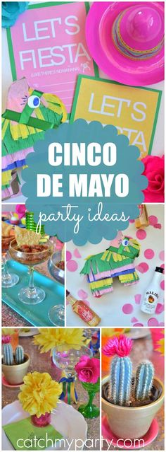 Wow! What a vibrant fiesta dinner party! See more party ideas at CatchMyParty.com!