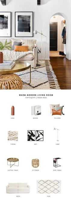 A warm neutral textured boho living room created by Brady Tolbert and Emily Henderson gets recreated for less by copycatchic luxe living for less budget home decor and design daily finds and room redos