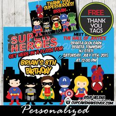 comic superhero party favor tags personalized pinterest superhero favors superhero and favors