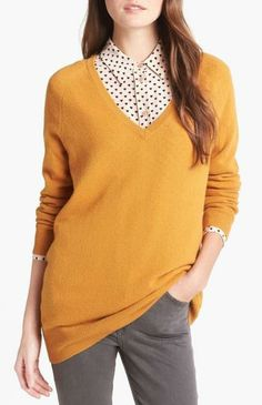 Gold, cashmere sweater.