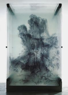 3D Paintings on Glass Using multiple layers of clear glass, Canada based David Spriggs and Chinese born Xia Xiaowan, transform flat artwork into 3D sculptures.