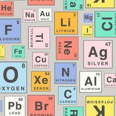 Periodic Table 130cm PVC Multi | Dunelm