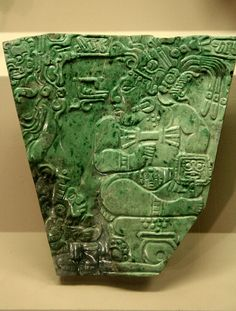 This is an example of an original Mayan Jade Plaque. Jade was the stone of Mayan Royalty and is found in many of their tombs. Historical Artifacts, Ancient Artifacts, Ancient Ruins, Le Jade, Colombian Art, 10 Interesting Facts, Aztec Culture, Arte Tribal, Mesoamerican