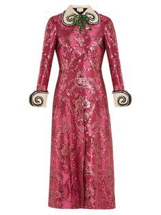 Shop our edit of women's designer Dresses from luxury designer brands at MATCHESFASHION Pink Sequin Dress, Pink Midi Dress, Pink Floral Dress, Floral Dresses, Dress Red, Pink Dresses, Chinoiserie, Gucci Dress, Red Cocktail Dress