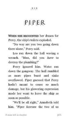 Percy loves Annabeth so much<<<So much that he made the toilets explode