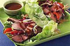 Teriyaki Steak Lettuce Wraps recipe