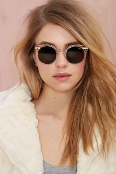20 Wild Sunlgasses for Spring 2015 - Quay Fleur Shades - Gold; $45 at nastygal