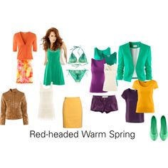 """Red Headed Warm Spring"" by katestevens on Polyvore"