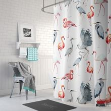 180x180cm Happy Pets /& Camper Bathroom Fabric Shower Curtain Set Liner 12 Hooks