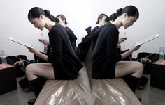 From NYFW Fall/Winter 2012 Peter Som backstage