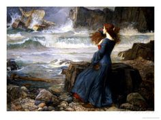 Miranda, the Tempest, 1916 Prints by John William Waterhouse - I think I want this for our second living room print.