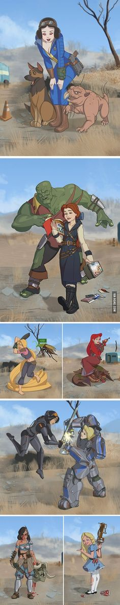 Disney princesses in FalloutYou can find Fallout 3 and more on our website.Disney princesses in Fallout Fallout 4 Funny, Fallout Facts, Fallout Fan Art, Fallout Concept Art, Fallout New Vegas, Fallout 3, Fallout Posters, Fallout Cosplay, Fallout 4 Curie