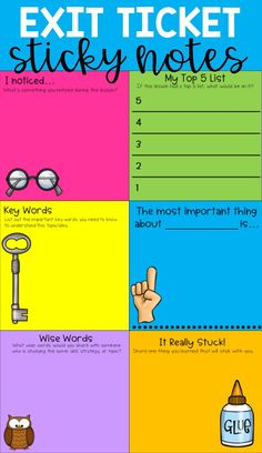 Exit tickets have been a long-time favorite formative assessment tool. Exit tickets can be formatted in a variety of ways to specifically assess skills or content taught during a lesson. Teaching Strategies, Teaching Tips, Formative Assessment Strategies, Differentiation Strategies, Student Self Assessment, Student Teaching, Teaching Art, Teacher Tools, Teacher Resources