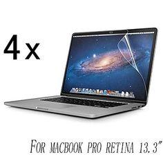 [4-Pack] di alta qualità Invisible Shield sfumino Screen Protector prova per MacBook Pro Retina da 13,3 pollici    – EUR € 3.91