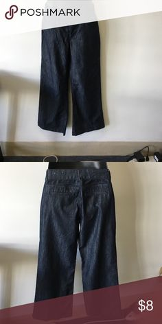Wide leg jeans 62% cotton 37% polyester 1% spandex Kim Rogers Jeans Flare & Wide Leg