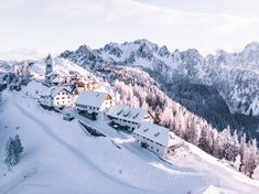 On the top of #MonteLussari, an enchanted village nestled in the #JulianAlps, further fairytale-like with the magic of the #snow. The beauty of #nature blends with the spirituality coming from an ancient sanctuary. A mystical place, one of the most beautiful ones in the world. #friuliveneziagiulia #fvglive #mountain #winter #beautifuldestinations 📷 by Daniele Buso on Unsplash Ski Italy, Italy Winter, Italy Travel, Italy Trip, Best Places In Italy, Best Of Italy, Cool Places To Visit, Free Background Images, Julian Alps