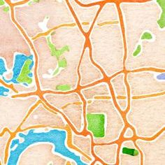 Type in ANY zipcode and it will generate 3 types of maps for you. One-watercolor. Two-topographical. Three-black and white simplified streets. Could be great for wall art! Or for children learning our neighborhood. Or to research the hills, valleys, ponds in our area.
