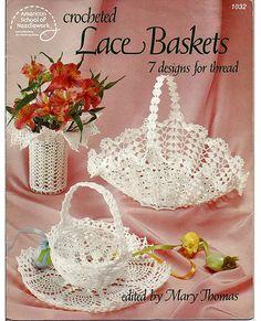 Lace Baskets 7 Designs for Thread Crochet by grammysyarngarden, $6.00