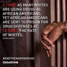 So much for the war on drugs. What it really does is singles out minorities and gives the authorities the ability to incarcerate those who are of a different skin color.