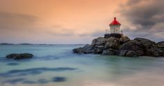 Eggum Lighthouse - Shot taken in November 2016 at the Eggum beach, after a strong storm