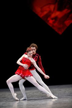 "Aurélie Dupont and Mathias Heymann in Balanchine's ""Rubies"" from ""Jewels."" Photo © Agathe Poupeney."