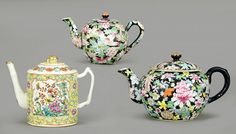 Three Chinese Porcelain Teapots. : Lot 1703464