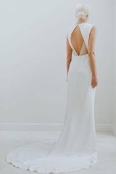 Open back wedding dress detail by Charlotte Simpson