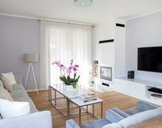 Dom parterowy - Średni salon, styl nowoczesny - zdjęcie od na-antresoli