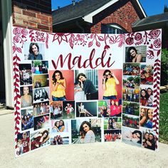 Anniversary Gift Ideas For Him Discover Senior trifold photo board display Graduation Photo Displays, Graduation Picture Boards, Graduation Open Houses, Graduation Photos, Graduation Party Planning, Graduation Party Decor, Grad Parties, Graduation Table Ideas, Outdoor Graduation Parties