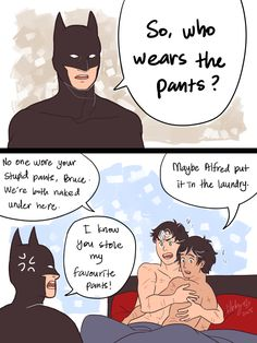 Please return pants to Bruce Wayne if found. Superman X Batman, Batman Comics, Dc Comics, Dc Memes, Marvel Memes, Birdflash, Robin Dc, Bat Boys, Cartoon Books