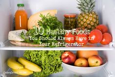 10 Healthy Foods You Should Always Have in Your Refrigerator by Groovy Green Livin