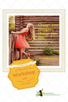 Ready to be more positive, have better relationships, more confidence, better self-esteem, and more able to recognise opportunities in your life? Join me for this life changing workshop! www.lifelikeyoumeanit.com/workshop