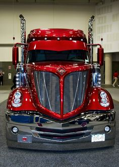 The Great American Trucking Show, Dallas, Texas, If I was gonna have a big rig, this'd be the one! Big Rig Trucks, Semi Trucks, Cool Trucks, Pickup Trucks, Truck Drivers, Chevy Trucks, Lifted Chevy, Mack Trucks, Custom Big Rigs