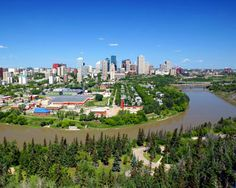 Edmonton is Alberta's capital city with the largest urban population in the province. Known for an enormous mall and the hockey team where Wayne Gretzky played in his glory days, Edmonton Canada is a truly Canadian city. Visit Canada, O Canada, Alberta Canada, Canada Travel, Great Places, Places To See, Places Ive Been, Beautiful Places, Places Around The World