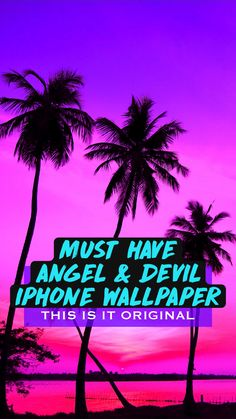 MUST HAVE ANGEL & DEVIL IPHONE WALLPAPER