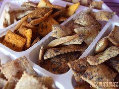 Szemirámisz függőkertje: Sós kréker Nacho Chips, Nachos, Crackers, French Toast, Cookies, Meat, Chicken, Breakfast, Food