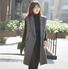 Image result for women's tailored long vest