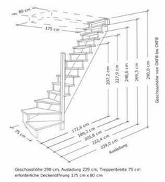 Small Staircase, Loft Staircase, Tiny House Stairs, Attic Stairs, Basement Stairs, Home Stairs Design, House Design, Escalier Art, Stair Plan
