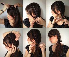 penteado feminino simples