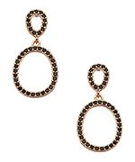 Nyla Star Jewelry; Inc Fortune Rose Gold and CZ Drop Hoop Earrings