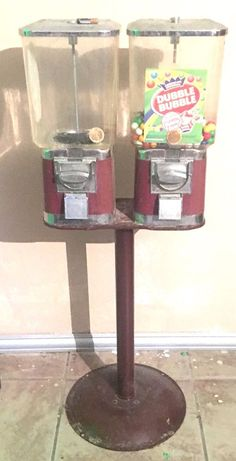Vintage Gumball Peanut Candy Vending Machine Coin Operated  | eBay