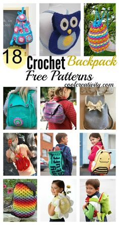 Crochet Purses Patterns 18 Crochet Backpack with Free Patterns - These crochet backpack look great and make beautiful handmade gifts too! We've rounded up a fantastic collection of FREE Crochet Backpack Patterns. Crochet Backpack Pattern, Crochet Purse Patterns, Crochet For Kids, Crochet Baby, Free Crochet, Crochet Shell Stitch, Bead Crochet, Easy Crochet Projects, Crochet Crafts