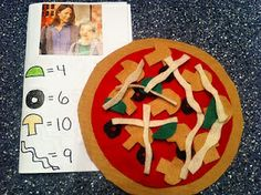 Felt Pizza Orders (fun play math activity) Little Nino's Pizzeria Felt Pizza, Pizza Games, Pizza Restaurant, Pizza Menu, How To Make Pizza, Busy Bags, Preschool Activities, Crafts For Kids, At Least