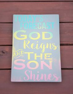 Painted sign  God Reigns by BlessedHomeDecor on Etsy