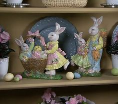 2-Piece Bunny Family Figures by Valerie