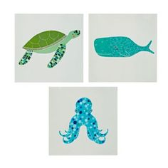 Set of 3 Unframed Under the Sea Wall Art   The Land of Nod
