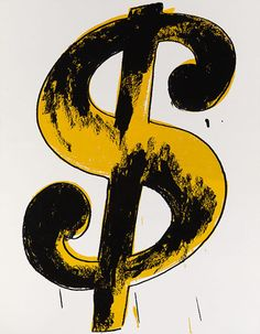 Andy Warhol – Dollar Sign Not only did Warhol openly acknowledge that he loved money (having come from a poor family in industrial Pittsburgh)… – Money Management Art Pop, Andy Warhol Artist, Dollar Sign, Dollar Bills, American Artists, Art World, New Art, Modern Art, Contemporary Art