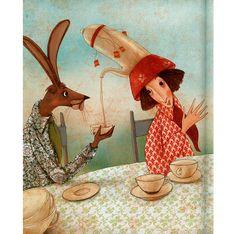 Alice's Adventures in Wonderland. Illustrated by Manuela Adreani. Alice In Wonderland 1, Adventures In Wonderland, Through The Looking Glass, Children's Book Illustration, Book Of Life, Conte, Childrens Books, Illustrators, Tea Party