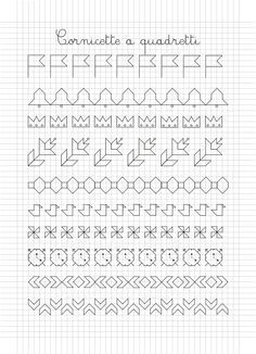 disegni su quaderno a quadretti - Cerca con Google